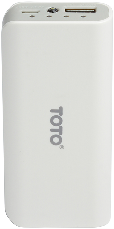 Портативная батарея TOTO TBG-82 Power Bank 4000 mAh 1USB 1A Li-Ion White - Фото 1
