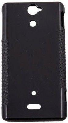 Чехол-накладка Drobak Elastic PU для Sony Xperia V LT25i Black - Фото 1
