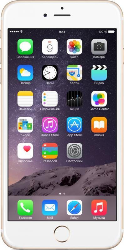 Смартфон Apple iPhone 6 Plus 64Gb Gold - Фото 1