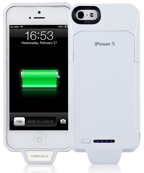 Momax Apple iPower 5 Battery Case White - фото