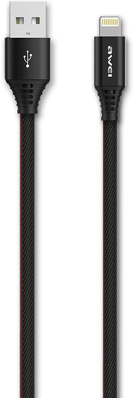 Купить Кабели и переходники, AWEI CL-54 Lightning cable 1, 5m Black