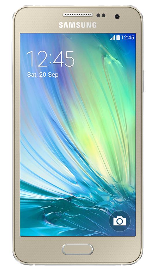 Смартфон Samsung Galaxy A3 A300H/DS Gold - Фото 1