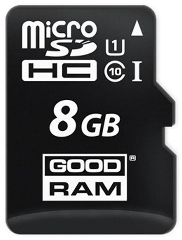 Карта памяти Goodram microSDHC/SDXC class 10 UHS-1 SD adapter 8Gb - Фото 1