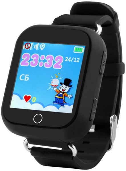 UWatch Q100s Kid smart watch Black - фото