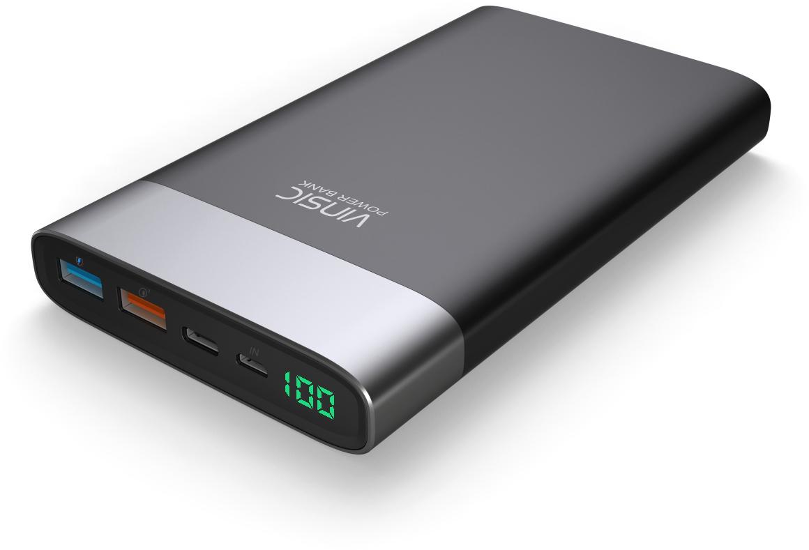 Портативная батарея VINSIC Power Bank 20000 mAh VSPB303 QC 3.0 Li-pol Black - Фото 1