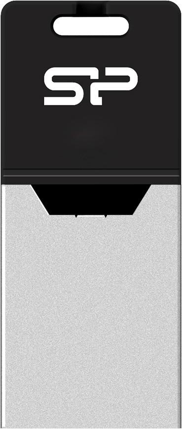 USB Flash Silicon Power Mobile X20 OTG 16Gb Black - Фото 1