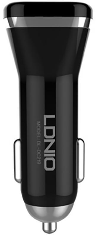 Купить Зарядные устройства, LDNIO DL-C219 Car charger 2USB 2.1A + Lightning cable Black