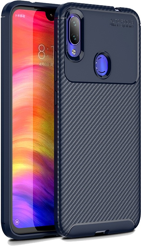 Купить Чехлы для телефонов, TOTO TPU Carbon Fiber 1, 5mm Case Xiaomi Redmi Note 7/Note 7S/Note 7 Pro Dark Blue