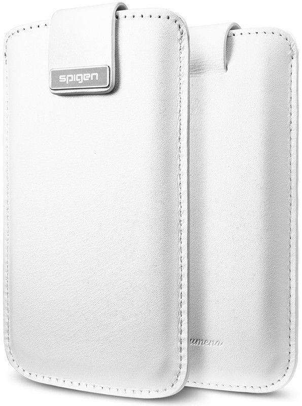 Чехол-карман Spigen Leather Pouch Crumena Series White для iPhone 5 - Фото 1