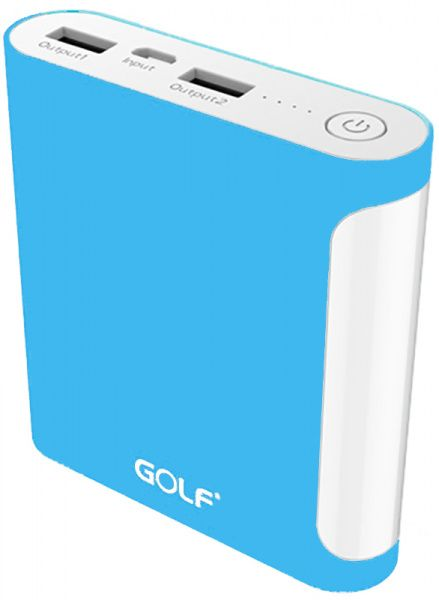GOLF Power Bank 10000 mAh GF-D14GB 3.1A Li-pol Blue
