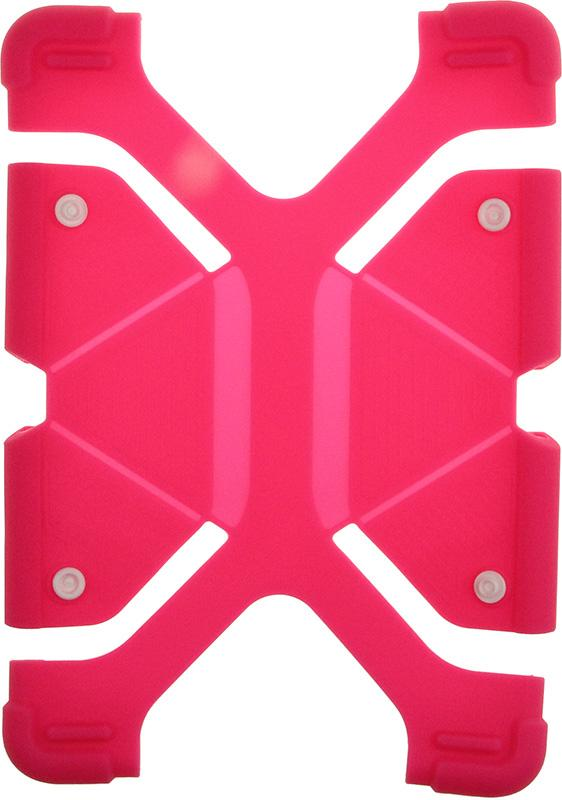 Купить Чехлы для планшетов, TOTO Tablet universal stand silicone case Universal 9/12 Hot Pink