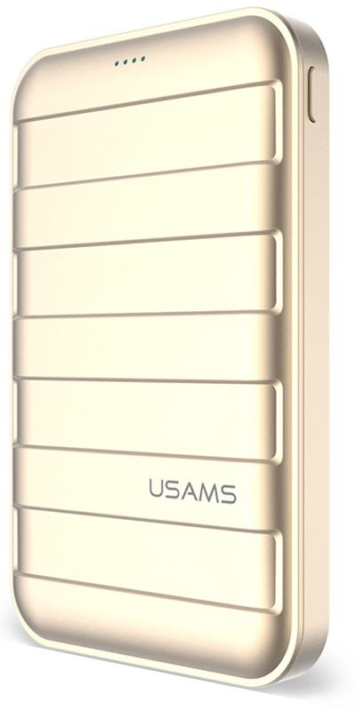 Портативная батарея Usams US-CD06 Trunk Power Bank 10000mah Gold - Фото 1