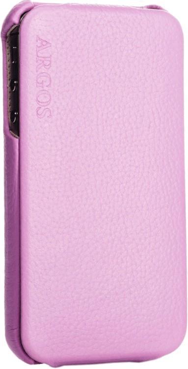 Чехол-флип SGP Leather Case Argos для iPhone 4 Pink - Фото 1
