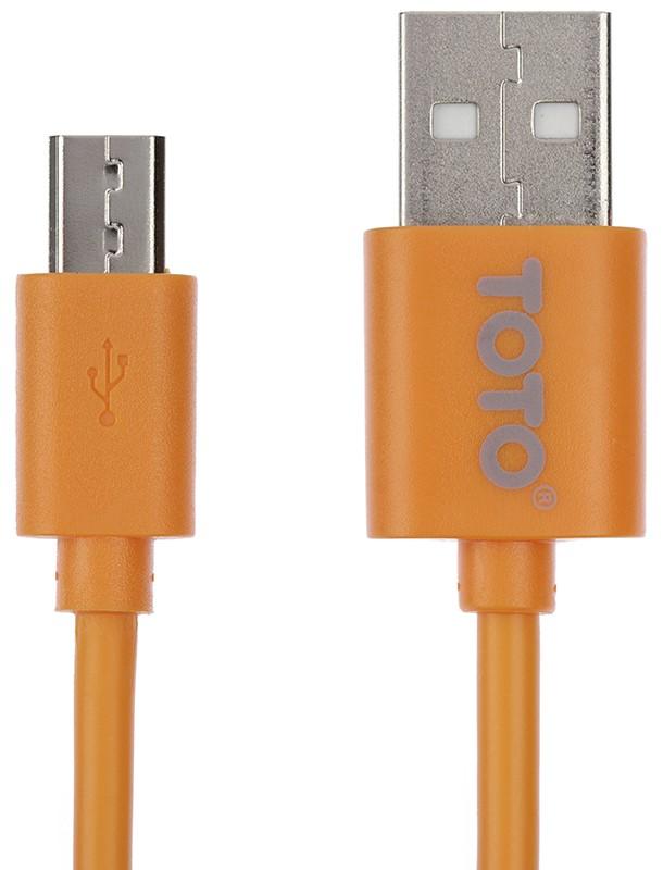 Кабель TOTO TKG-19 High speed USB cable microUSB 1,5m Orange - Фото 1