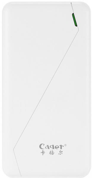 Cager S8 Power Bank 10000 mAh Li-Polimer White - фото