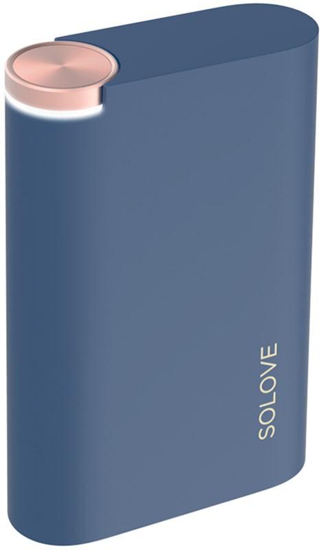 Портативная батарея Solove AirS 8000mAh External Power Bank Normal edition Dark blue - Фото 1
