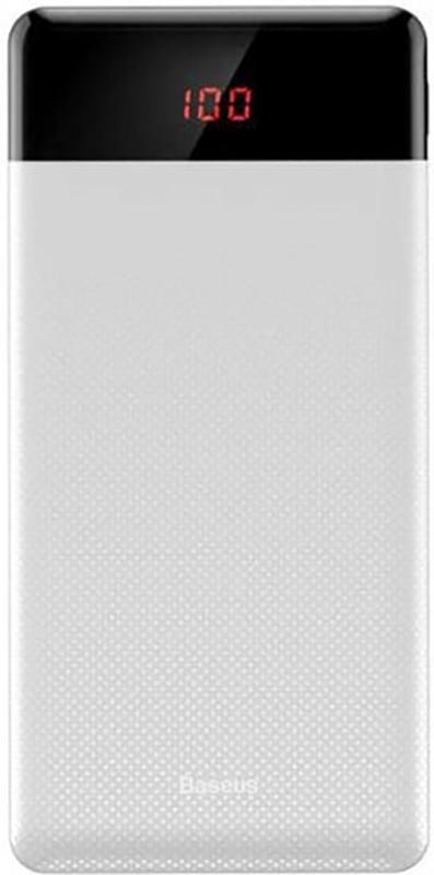 Купить Портативные батареи, Baseus Mini Cu digital display Power Bank 10000mAh White