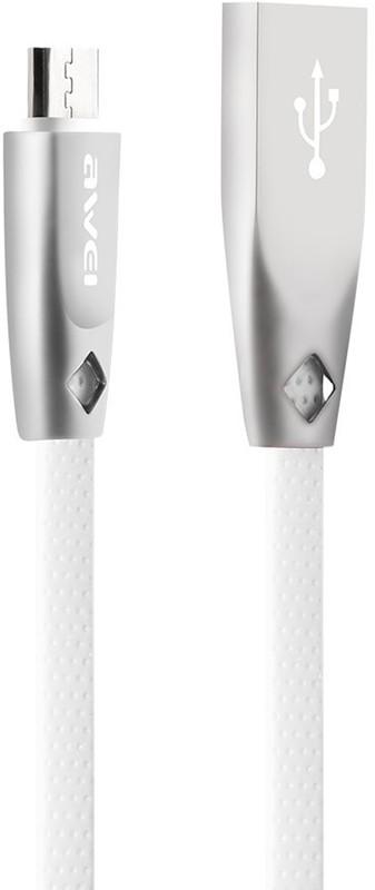 Купить Кабели и переходники, AWEI CL-96 Micro cable 1m White