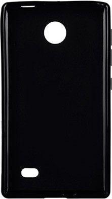 Чехол-накладка Drobak Elastic PU для Nokia X Dual Sim Black - Фото 1