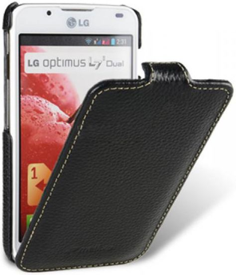 Чехол-флип Melkco leather case для LG Optimus L7 II Dual black - Фото 1
