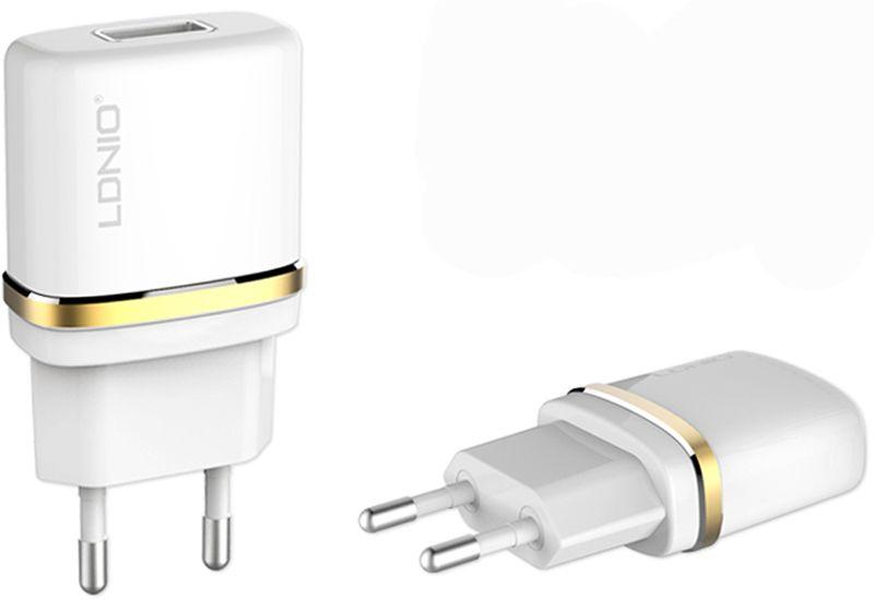 Купить Зарядные устройства, LDNIO DL-AC50 Travel charger 1USB 1A + Lightning cable White