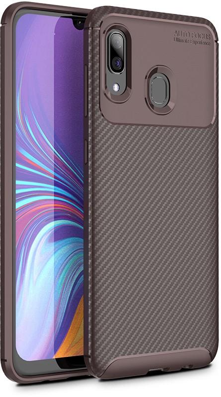 Чехлы для телефонов, TOTO TPU Carbon Fiber 1, 5mm Case Samsung Galaxy A20/A30 Coffee  - купить со скидкой