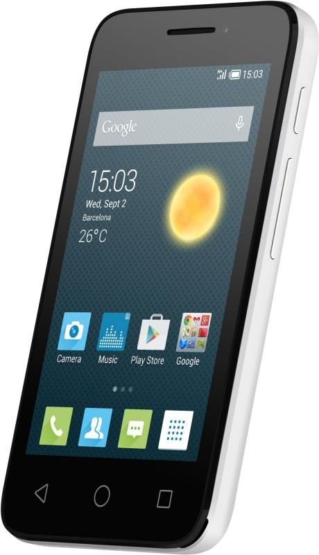 Смартфон Alcatel One Touch PIXI 3 4013D White Black Front - Фото №3