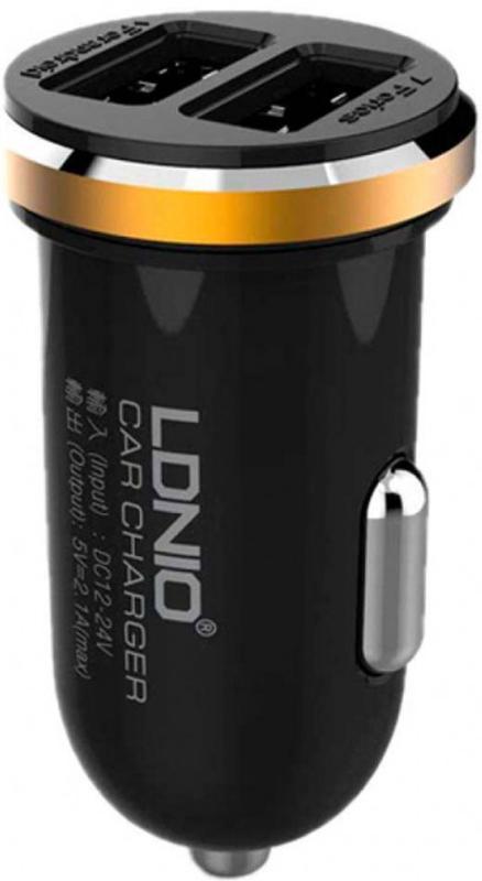 Купить Зарядные устройства, LDNIO DL-C22 Car charger 2USB 2.1A + Lightning cable Black