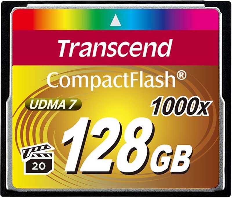 Карта памяти Transcend CompactFlash 1000x 128Gb - Фото 1