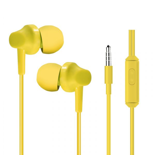 HeyDr H-97 Wired Earphones Yellow - фото