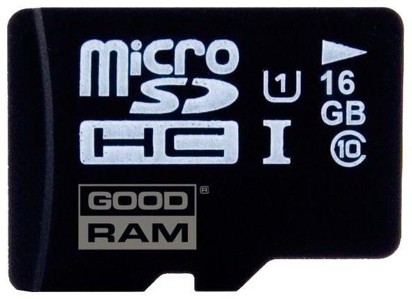 Карта памяти Goodram microSDHC 16Gb class10 UHS-1 + SD adapter - Фото 1