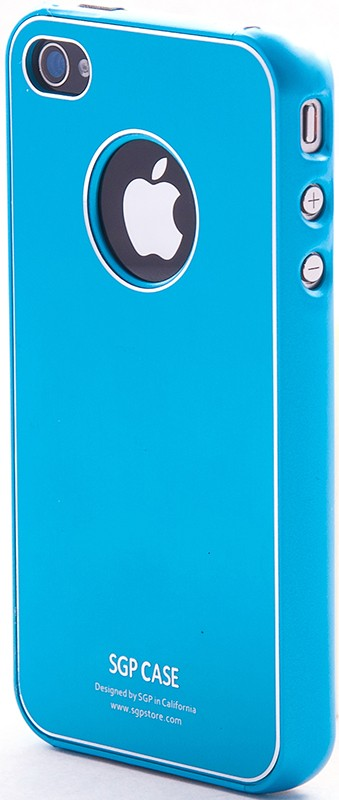 Чехол-накладка Spigen Ultra Thin Case Tender Blue для iPhone 4G - Фото 1
