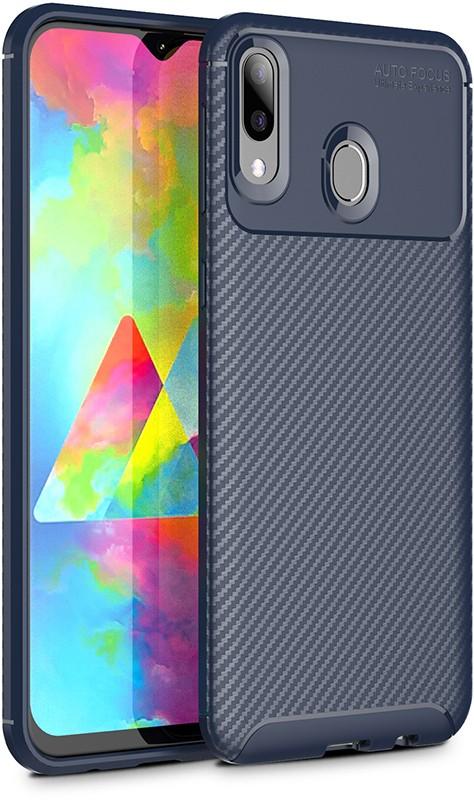 Купить Чехлы для телефонов, TOTO TPU Carbon Fiber 1, 5mm Case Samsung Galaxy M20 Dark Blue
