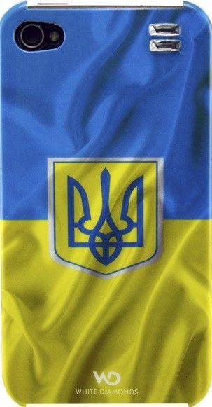 Чехол-накладка White Diamonds Flag Ukraine для iPhone 4/4S - Фото 1