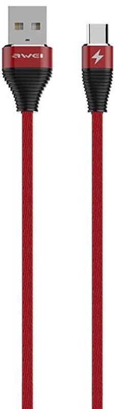 Купить Кабели и переходники, AWEI CL-29 Type-C Cable 2m Red