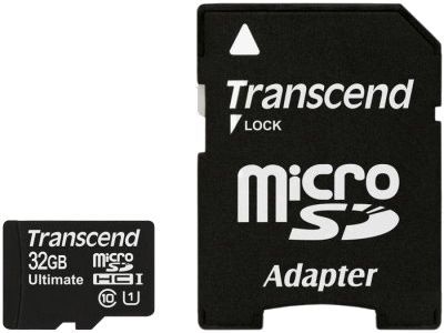 Transcend microSDHC Class 10 UHS-I 600x SD adapter 32Gb