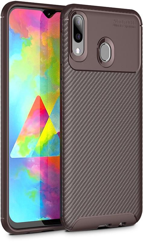Купить Чехлы для телефонов, TOTO TPU Carbon Fiber 1, 5mm Case Samsung Galaxy M20 Coffee