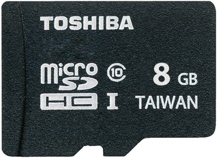 Карта памяти Toshiba microSDHC 8Gb class 10 UHS-I + SD adapter - Фото 1
