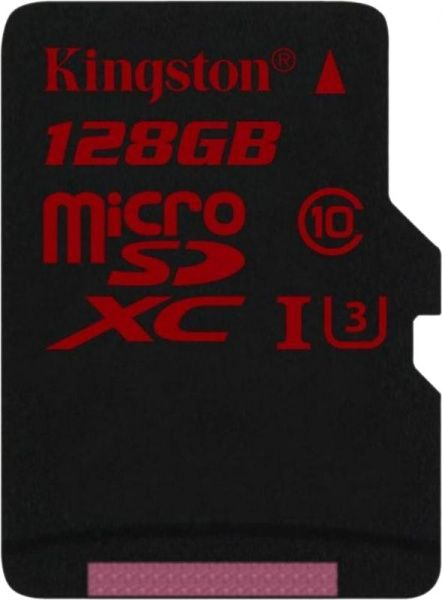 Kingston microSDHC/SDXC UHS-I U3 90R/80W SD адаптер 128Gb