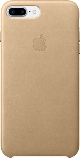 Apple Leather Case iPhone 7/8 plus Gold - фото