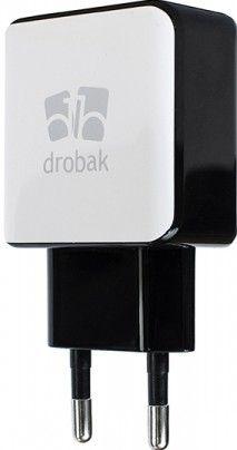 Сетевое зарядное устройстройство Drobak Power Dual USB 220V сетевое White/Black - Фото 1