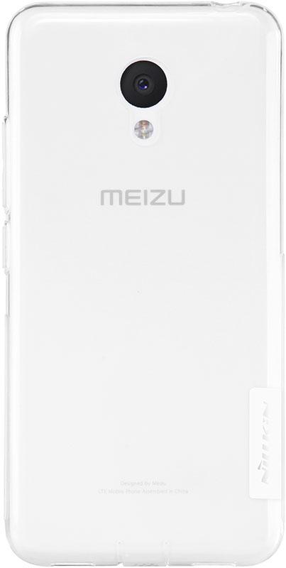 Чехол-накладка Nillkin TPU Nature Meizu M3 White - Фото 1