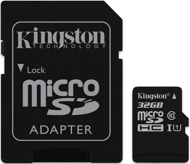 Карта памяти Kingston microSDHC/microSDXC class 10 UHS-I SD adapter 32Gb - Фото 1