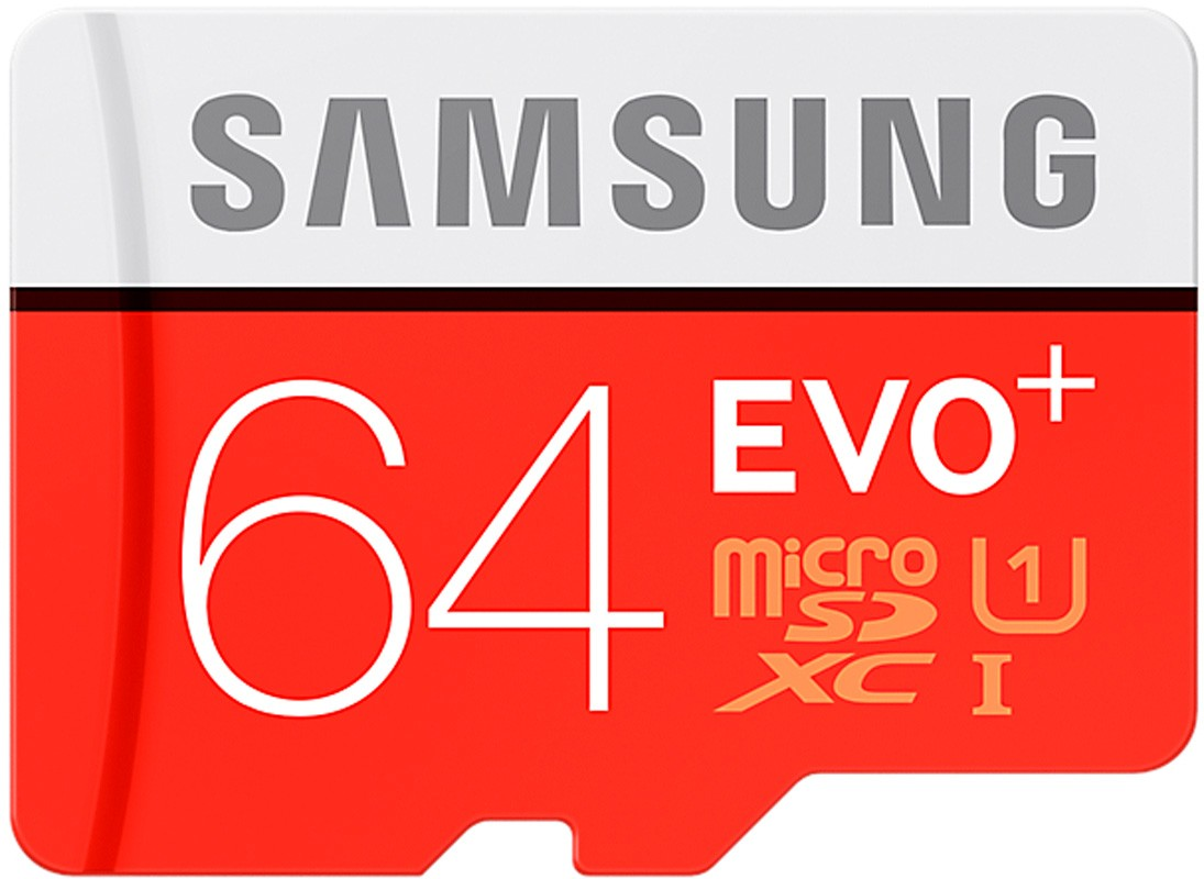 Карта памяти Samsung EVO Plus microSDXC UHS-I 64GB сlass10 +SD - Фото 1