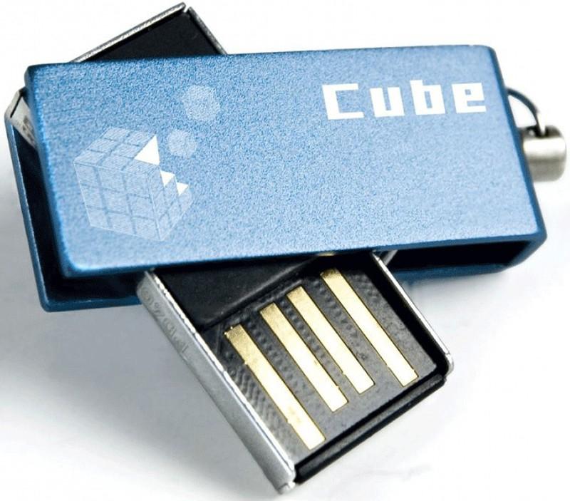 USB Flash Goodram Cube 32Gb Blue - Фото 1