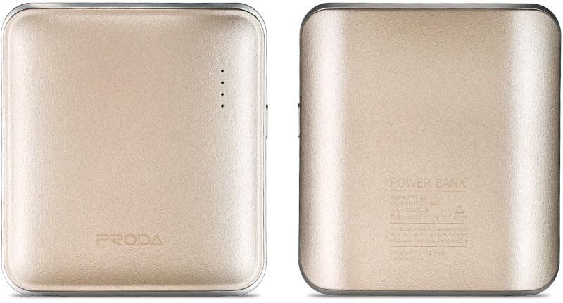 Купить Портативные батареи, Remax Power Bank Mink Series 5000 mah Gold