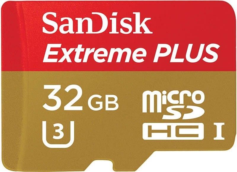 Карта памяти SanDisk microSDHC 32Gb class 10 UHS-3 Extreme - Фото 1