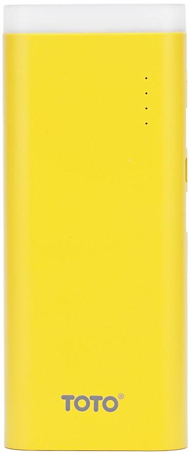 Портативная батарея TOTO TBG-17 Power Bank 12500 mAh 2USB 3,1A Li-Ion Yellow - Фото 1