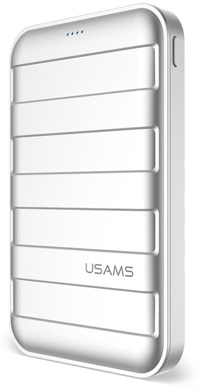 Портативная батарея Usams US-CD06 Trunk Power Bank 10000mah Silver - Фото 1