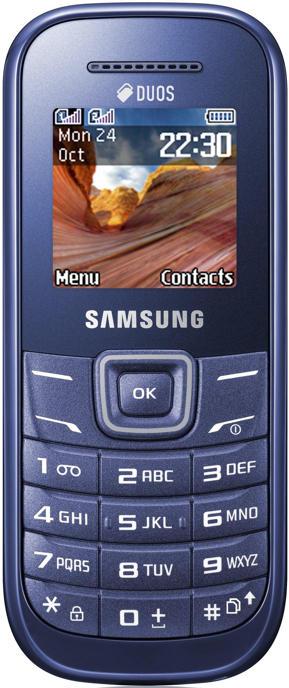 Мобильный телефон Samsung GT-E1202 Dual Sim Indigo Blue - Фото 1